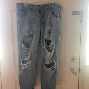 AE Distressed Tom Girl Jeans